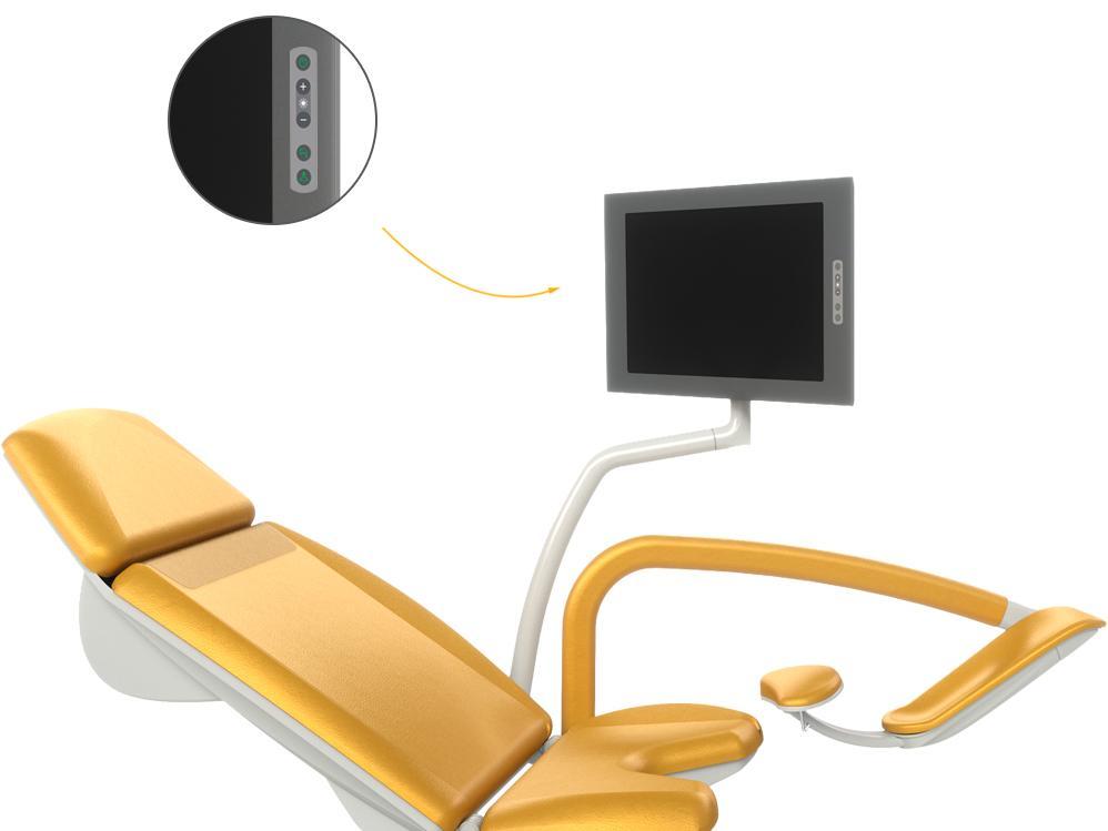 FULL HD LCD monitor - detail ovládání